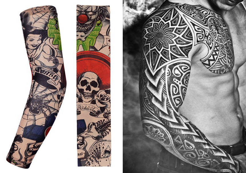 Skull Tattoo Sleeve Clothing Accessory