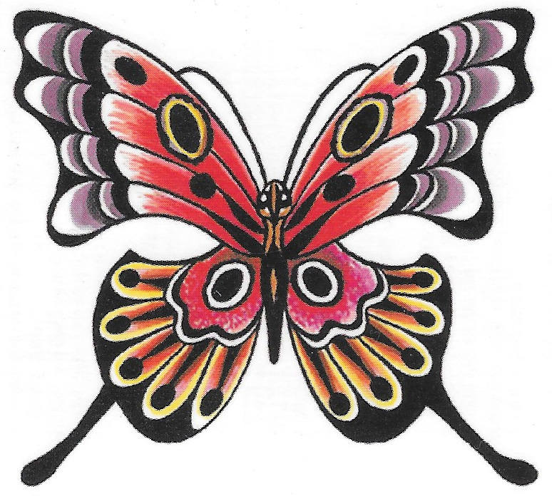 Butterfly Design Fake Temporary Tattoo