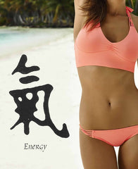 Energy Chinese Temporary Tattoo