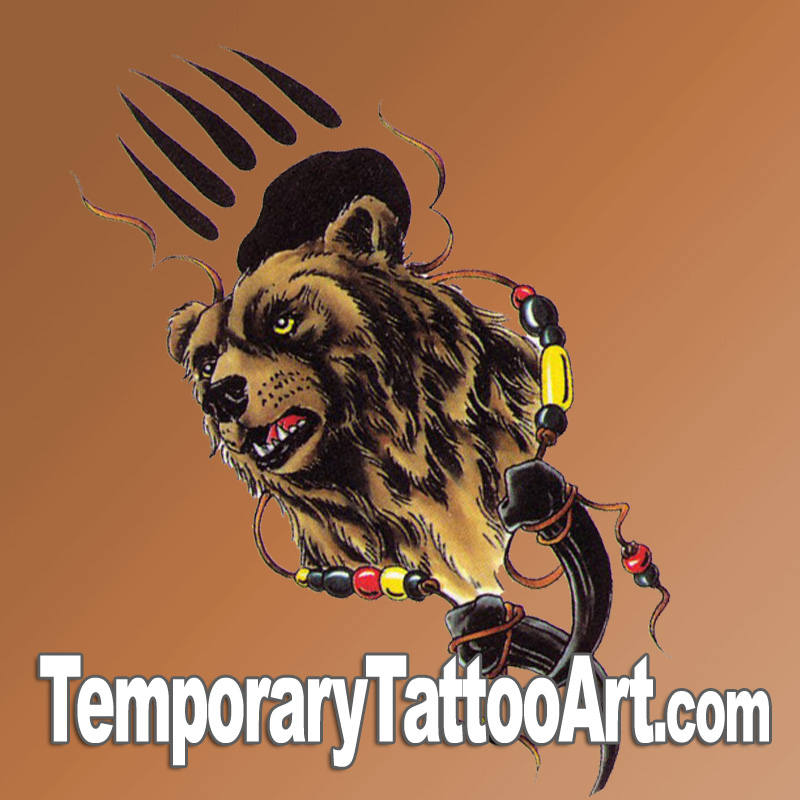 Bear Claw fake tattoo