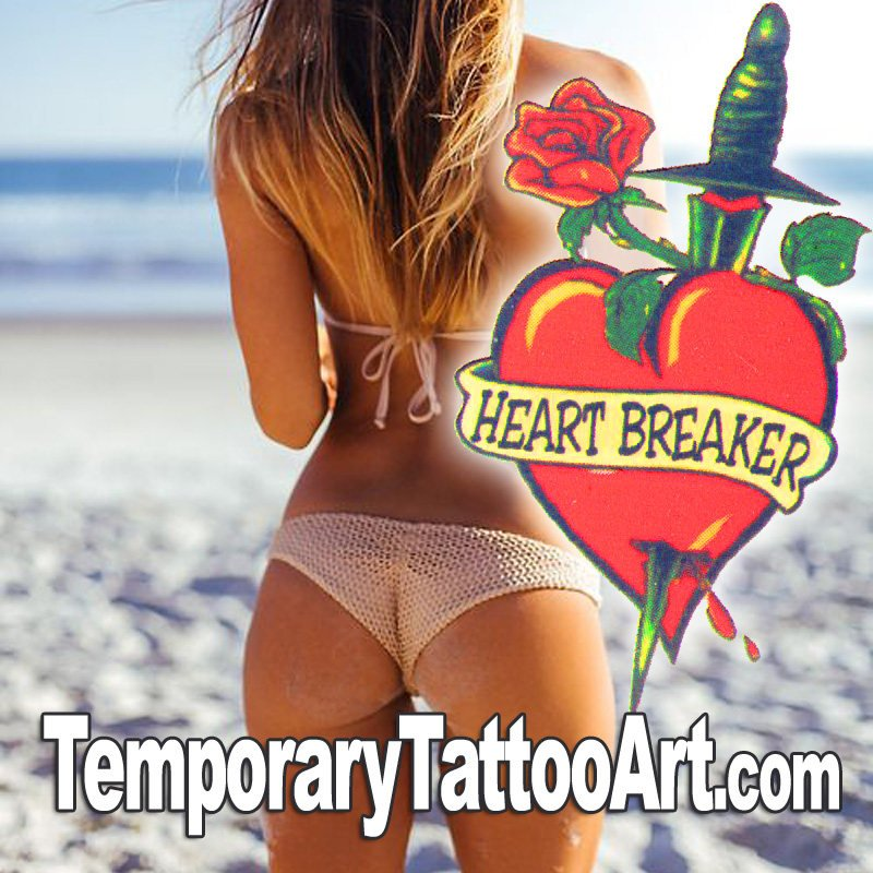 Temporary tattoo Heartbreaker