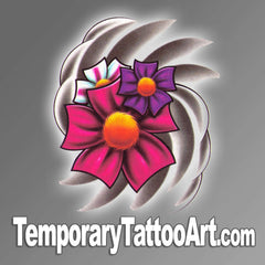 Flower temp tattoo