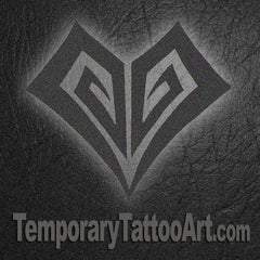 Tribal heart fake tattoo