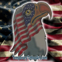 USA Eagle Temporary Tattoo