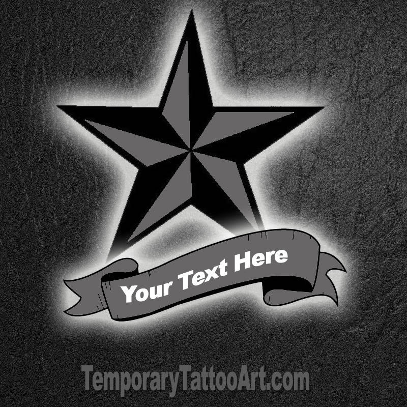 Star Fake Tattoo
