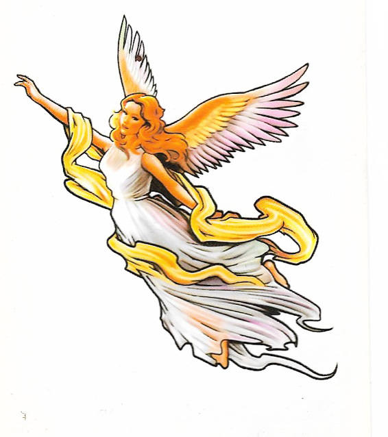 Angel tattoo design temporary