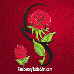 Tribal Fake Tattoo Rose