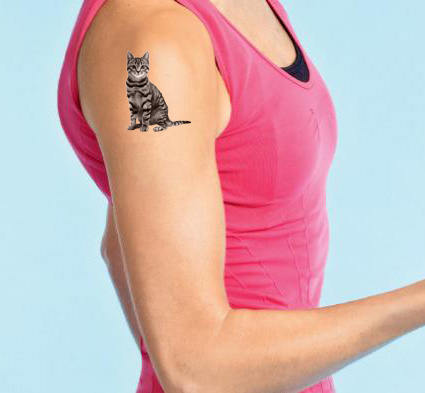Fake Tattoo of your pet cat dog