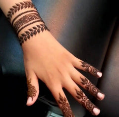 Fake Tattoo Henna Hand Gold