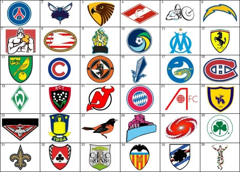 Sports team logo fake tattoos