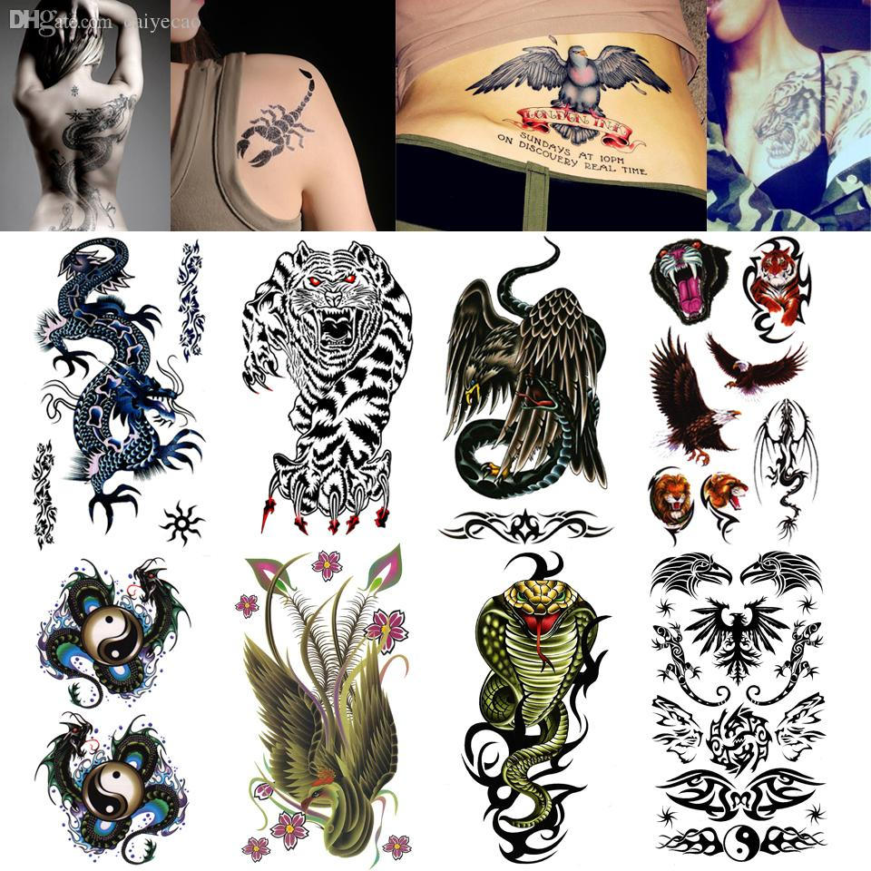 Animal temporary tattoos