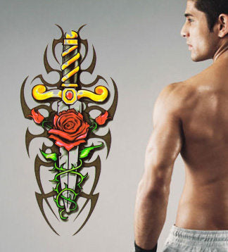 Tribal Sword Temporary tattoos