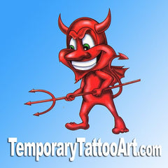 Devil temporary tattoos