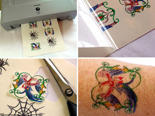 Temporary tattoo inkjet paper