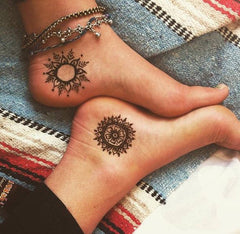 Fake Tattoo Henna Stars Suns Moons