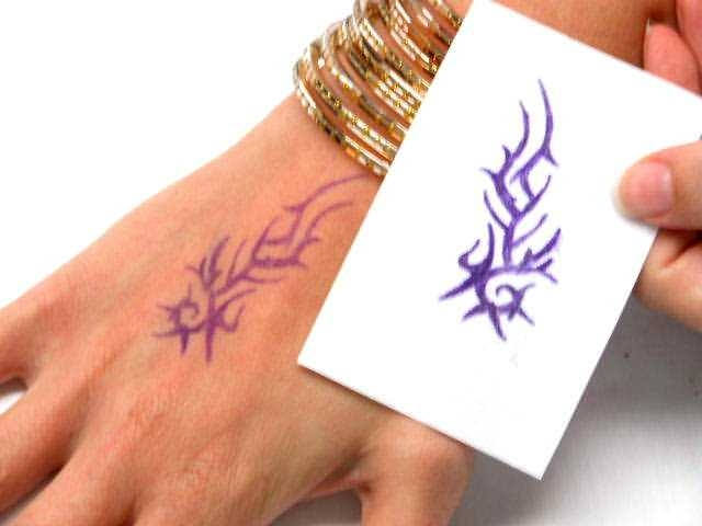 Laser fake tattoo paper