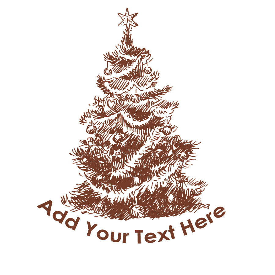Personalized Christmas Tree Tattoos