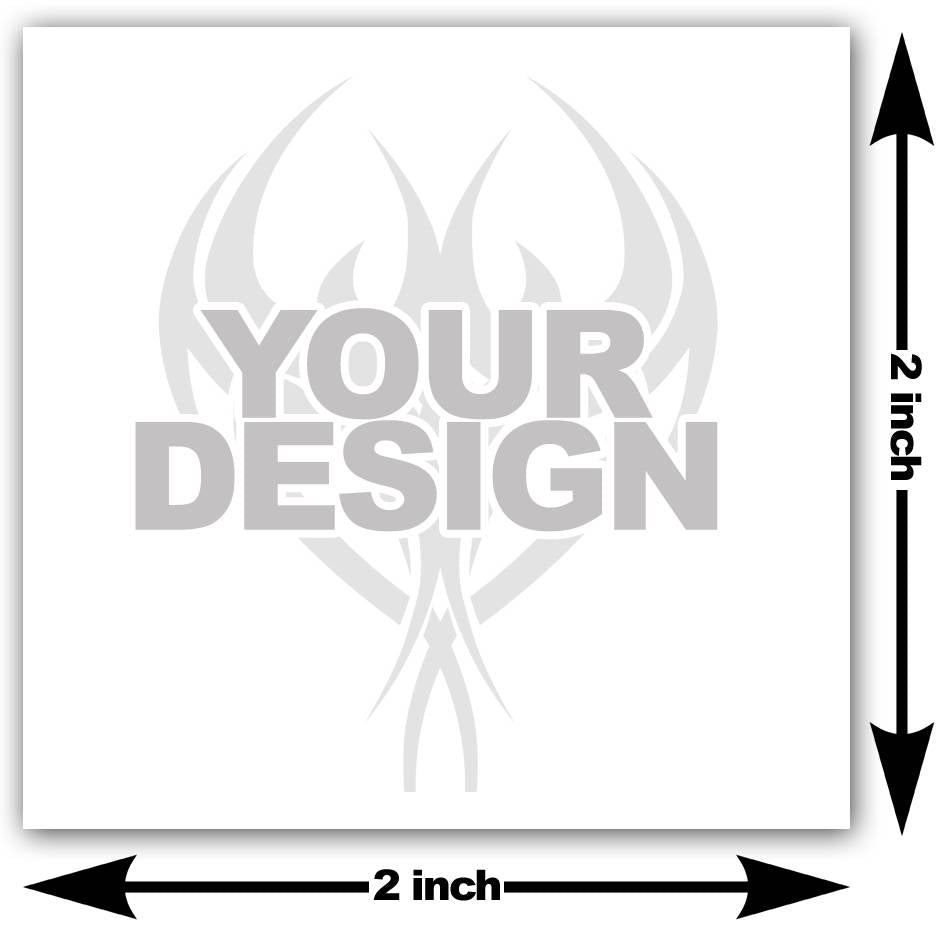2x2 inch custom temporary tattoo