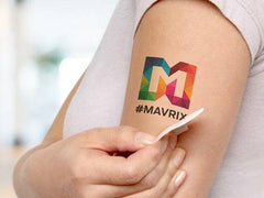 Logo as temporary tattoos