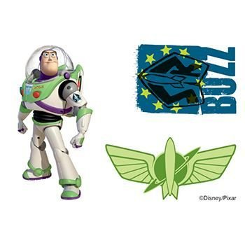 Toy Story Buzz Light Year Fake Tattoo