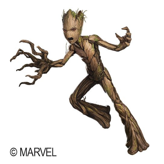 Groot Fake Tattoo