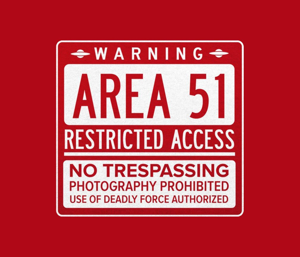 Area 51 T-Shirt for men and women