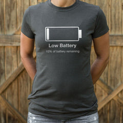 Guy Low Battery funny Shirt
