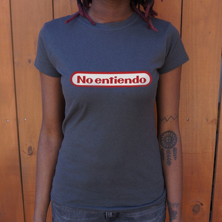 Girl Shirt No Entiendo Nintendo