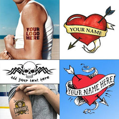 Customized Temporary tattoos