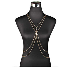 Chain Bikini Pendant Necklace Silver and Gold