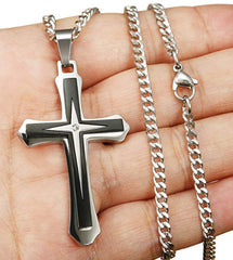 Cross Necklace Pendant Stainless Steel