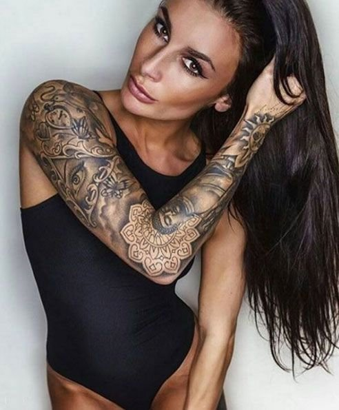 beautiful woman tattoo