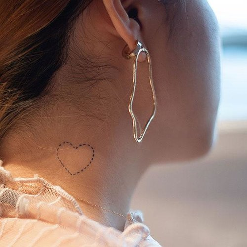 Fake Tattoo Simple Heart
