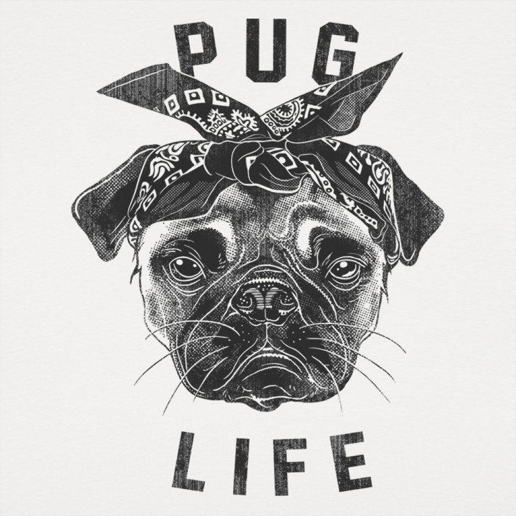 Guy Girl Shirt Pug Life Dog