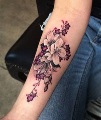 elegant flower tattoo