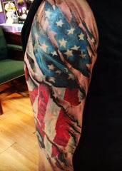usa flag tattoo