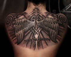 wings backpiece tattoo