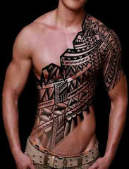 front tribal tattoo