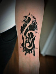 music note tattoo design
