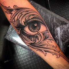 arm tattoo eye design
