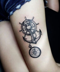 anchor design tattoo