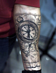 arm clock tattoo