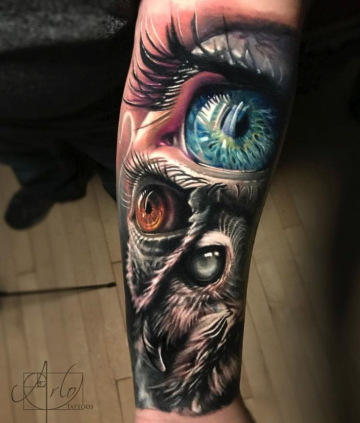 beautiful eye tattoo arm