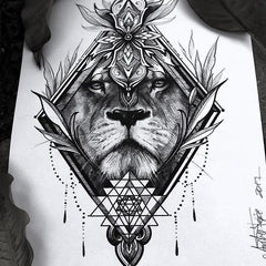 lion design tattoo