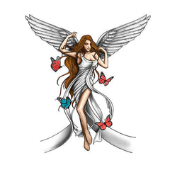 Angel woman temporary tattoo