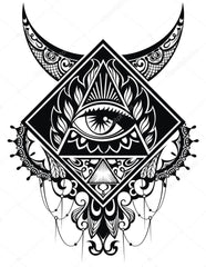 pyramid eye temporary tattoo