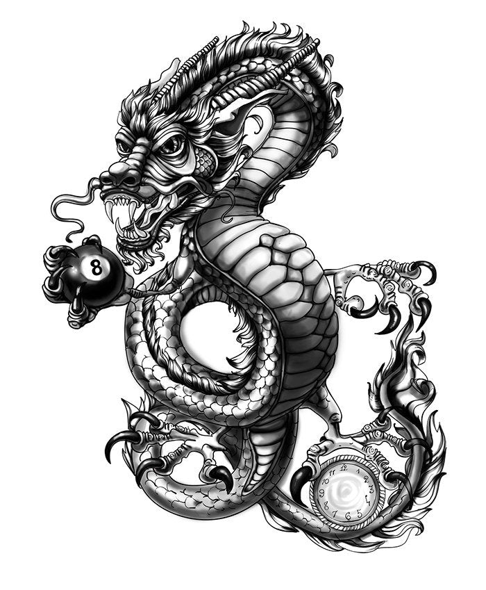 dragon design temporary tattoo