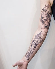 arm abstract tattoo art