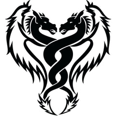 Double dragon tattoo design