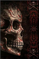 tribal skull artwork